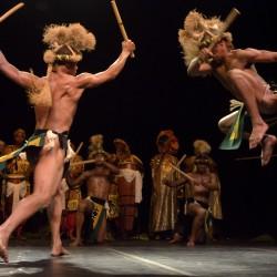 O Balé Folclórica se apresenta na Boca do Rio durante o Festival da Cidade